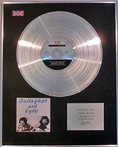 GALLAGHER & LYLE - Limited Edition CD Platinum Disc - BREAKAWAY