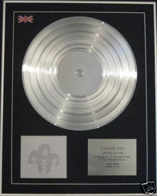 KINGS OF LEON - CD Platinum Disc- YOUTH & YOUNG MANHOOD