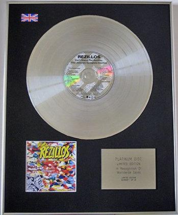 REZILLOS - Ltd Edition CD Platinum Disc - CAN'T STAND THE REZILLIOS