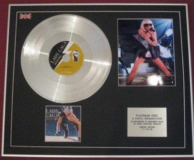 LADY GAGA -CD single Platinum Disc+Photo- POKER FACE