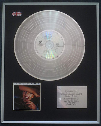 The Cars - Limited Edition CD Platinum LP Disc - 'The Cars'