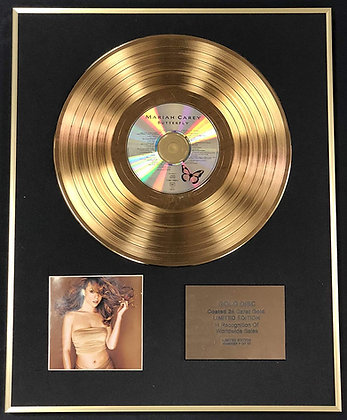 Mariah Carey - Exclusive Limited Edition 24 Carat Gold Disc - Butterfly