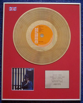 DAVID BOWIE - Limited Edition CD 24 Carat Gold Coated LP Disc - STAGE
