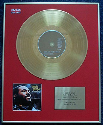 Marvin Gaye - Limited Edition CD 24 Carat Gold Coated LP Disc - What's Going On