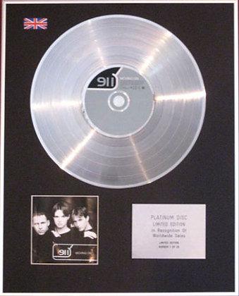 911 - CD Platinum Disc - MOVING ON