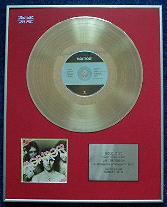 Montrose - Limited Edition CD 24 Carat Gold Coated LP Disc - 'Montrose'