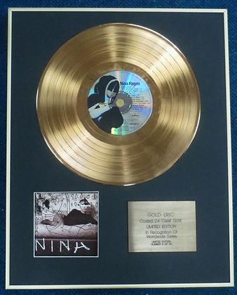 NINA HAGEN - Limited Edition CD 24 Carat Gold Coated LP Disc - 'NINA HAGEN'