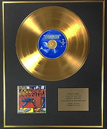 Snoop Dog - Exclusive Limited Edition 24 Carat Gold Disc - Doggystyle