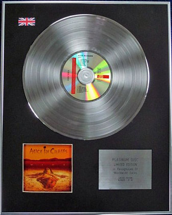 ALICE IN CHAINS - Limited Edition CD Platinum Disc - DIRT