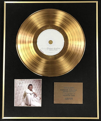 Peter Andre - Exclusive Limited Edition 24 Carat Gold Disc - Revelation