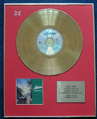 Chris Rea - Limited Edition CD 24 Carat Gold Coated LP Disc - Auberge