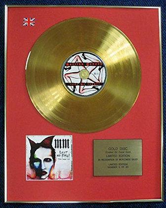 Marilyn Manson - LTD Edition CD 24 Carat Gold Coated LP Disc - Lest we…
