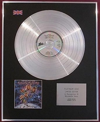 EUROPE - CD Platinum Disc -THE FINAL COUNTDOWN