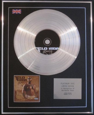 FLO RIDER -Ltd Edtn CD Platinum Disc-MAIL ON SUNDAY