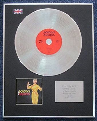 Dorothy Squires - Limited Edition CD Platinum LP Disc - The Best of