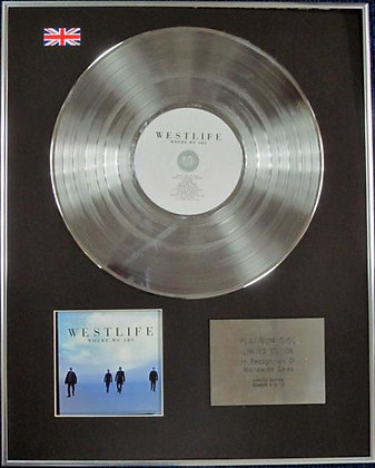 WESTLIFE - Limited Edition CD Platinum Disc - WHERE WE ARE