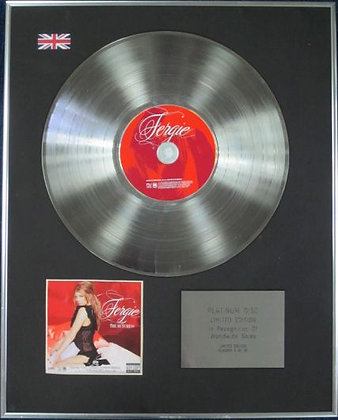 FERGIE - Limited Edition CD Platinum Disc - THE DUTCHESS (of Black Eyed Peas)