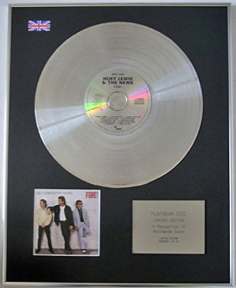 HUEY LEWIS AND THE NEWS - CD Platinum Disc - FORE