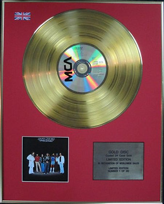 LYNYRD SKYNYRD - Limited Edition CD 24 Carat Coated Gold Disc - STREET SURVIVORS