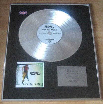 ASH - CD Platinum Disc - FREE ALL ANGELS