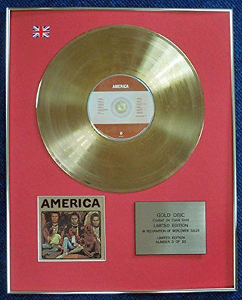 America - Limited Edition CD 24 Carat Gold Coated LP Disc - America