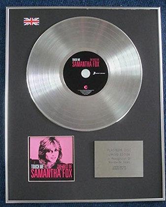 Samantha Fox - Limited Edition CD Platinum LP Disc - Touch me