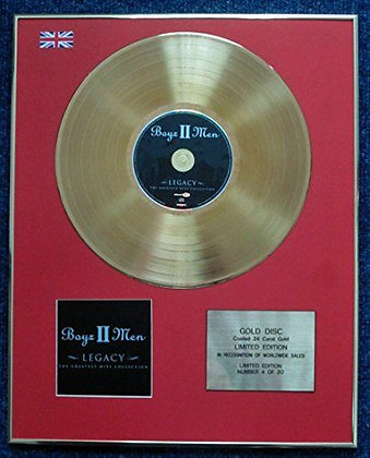 Boyz II Men - CD 24 Carat Gold Coated LP Disc - Legacy
