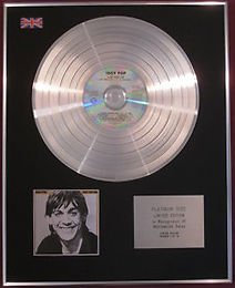 IGGY POP - CD Platinum Disc - LUST FOR LIFE