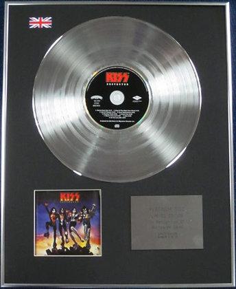 KISS - Limited Edition CD Platinum Disc - DESTROYER