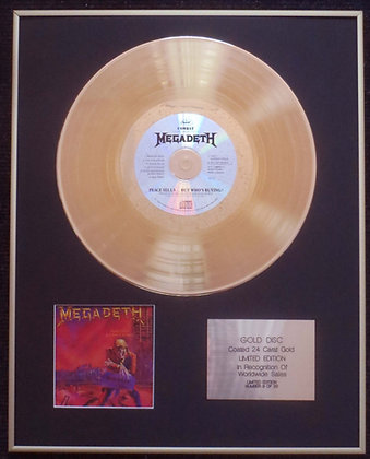 Megadeth - Exclusive Edition 24 Carat Gold Disc - Peace Sells…
