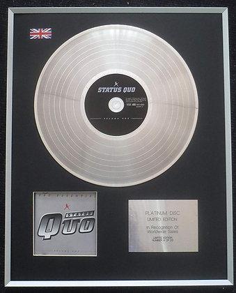 Status Quo - Limited Edition CD Platinum LP Disc - The Essential