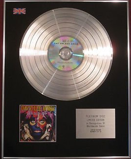 DAVID LEE ROTH-  CD Platinum Disc - EAT 'EM AND SMILE