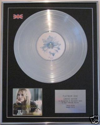 CARRIE UNDERWOOD - CD Platinum Disc- PLAY ON