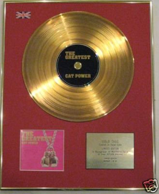 CAT POWER - Ltd 24 Carat CD Gold Disc - THE GREATEST