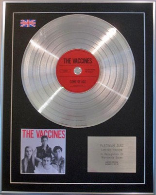 The Vaccines  - Limited Edition Cd  Platinum Disc  - Come Of Age