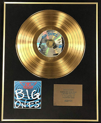 Aerosmith - Exclusive Limited Edition 24 Carat Gold Disc - Big Ones
