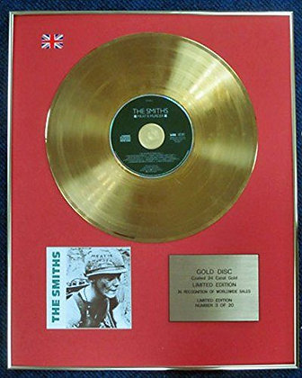 Smiths - Limited Edition CD 24 Carat Gold Coated LP Disc - Meat is murder