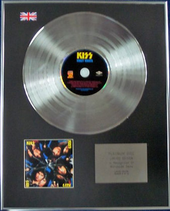 KISS - Limited Edition CD Platinum Disc -CRAZY NIGHTS