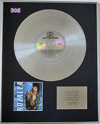 ROZALLA - CD Platinum Disc - EVERYBODY'S..