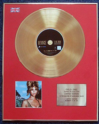 Beyonc� - Limited Edition CD 24 Carat Gold Coated LP Disc - B'Day