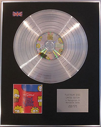 THE SIMPSONS - CD Platinum Disc - SING THE BLUES