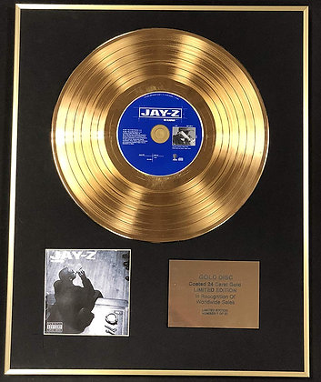 Jay Z - Exclusive Limited Edition 24 Carat Gold Disc - The Blueprint