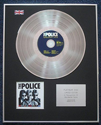 Police - Limited Edition CD Platinum LP Disc - Greatest Hits