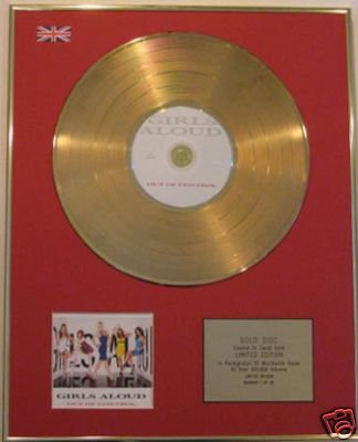 GIRLS ALOUD - Ltd Edt CD Gold Disc - OUT OF CONTROL
