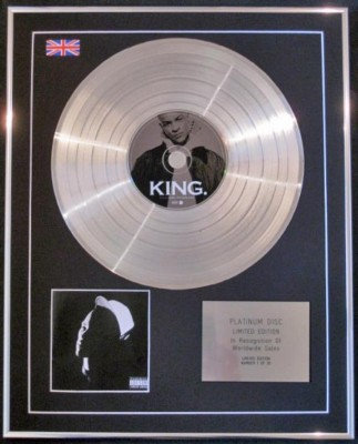 T.I KING  CD Platinum Disc- T.I KING