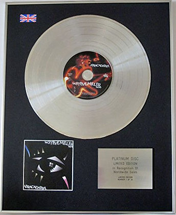 STEVE MILLER BAND - Ltd CD Platinum Disc - ABRACADABRA