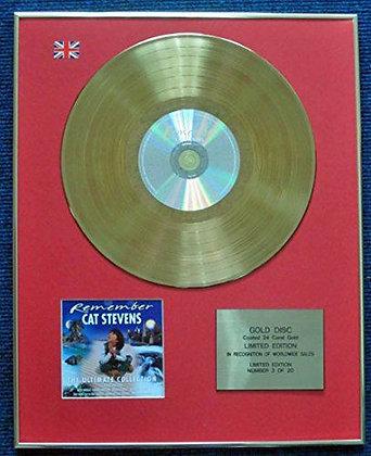 Cat Stevens - Limited Edition CD 24 Carat Gold Coated LP Disc - Remember