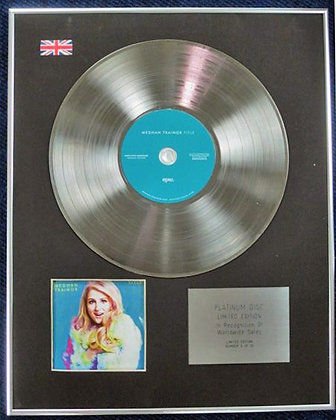 MEGHAN TRAINOR - Limited Edition CD Platinum Disc - TITLE