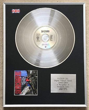 DAVID LEE ROTH – Limited Edition CD Platinum Disc – SKYSCRAPER