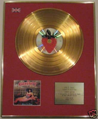 KATY PERRY - 24 Carat CD Gold Disc- ONE OF THE BOYS